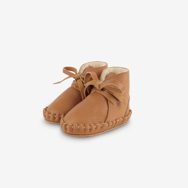 PINA Shearling Leather Baby Boots - Toast