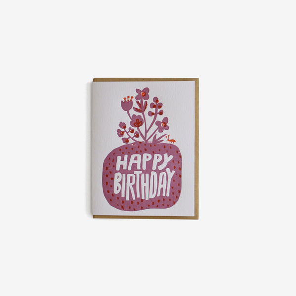 Birthday Card - Roots Floral