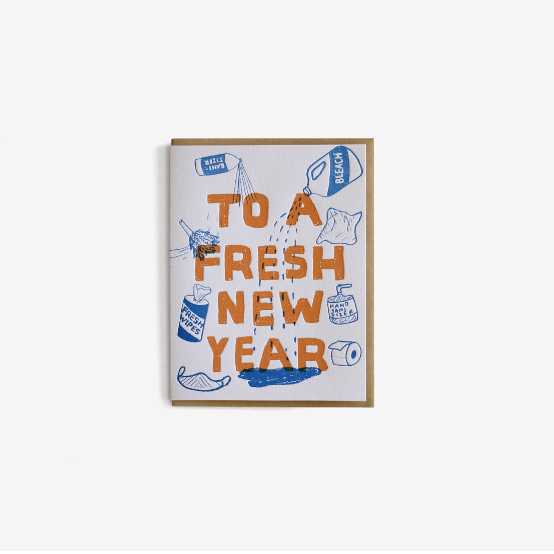To a Fresh New Year Greeting Card