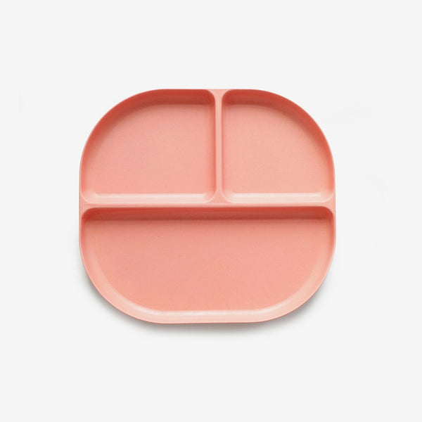 Ekobo Bamboo Divided Plate - Coral