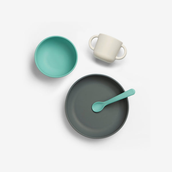 Premium Silicone Baby Meal Set - Lagoon