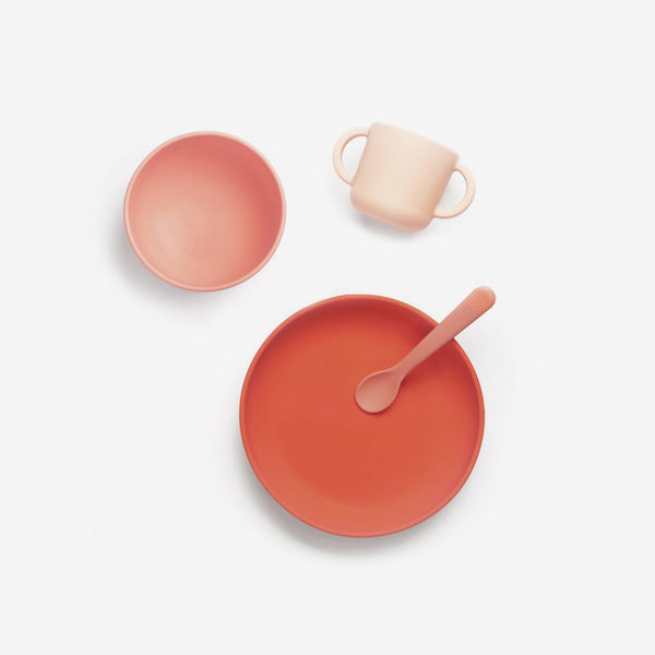 Premium Silicone Baby Meal Set - Coral