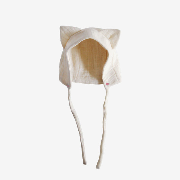 Organic Kitty Bonnet - Pink