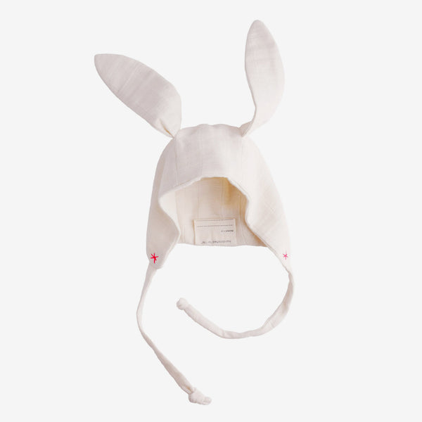 Organic Baby Bunny Bonnet - pink