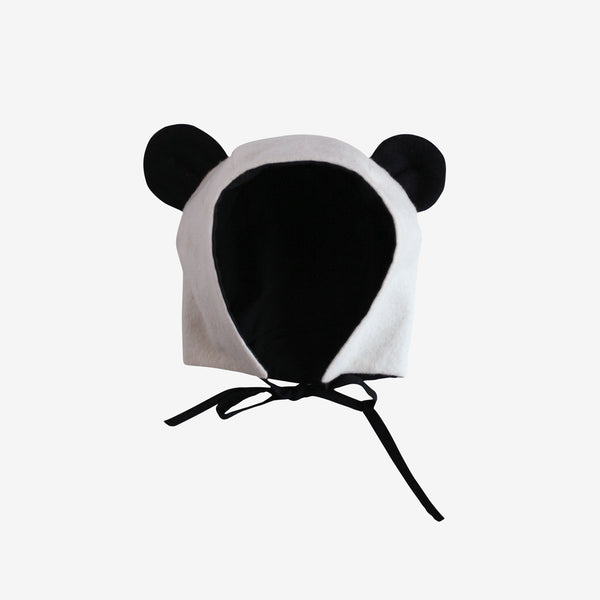 Brushed Flannel Panda Hat