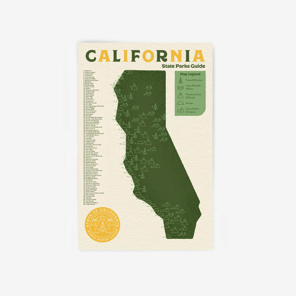 State Parks Poster with Stickers - California 11 x 17