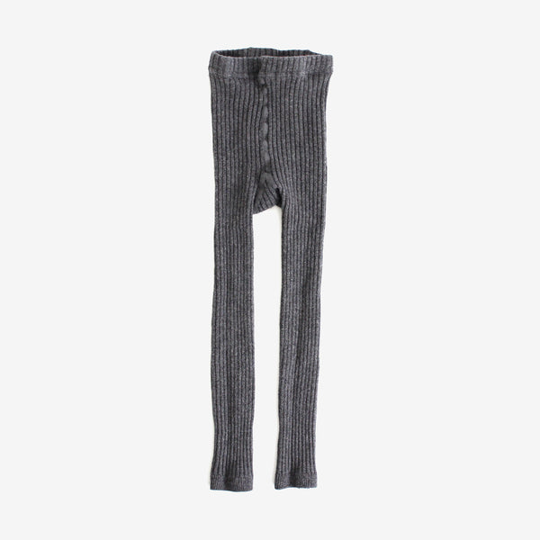 Shasha Ribbed Legging - Charcoal Heather