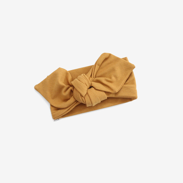Top Knot Headband - Mustard