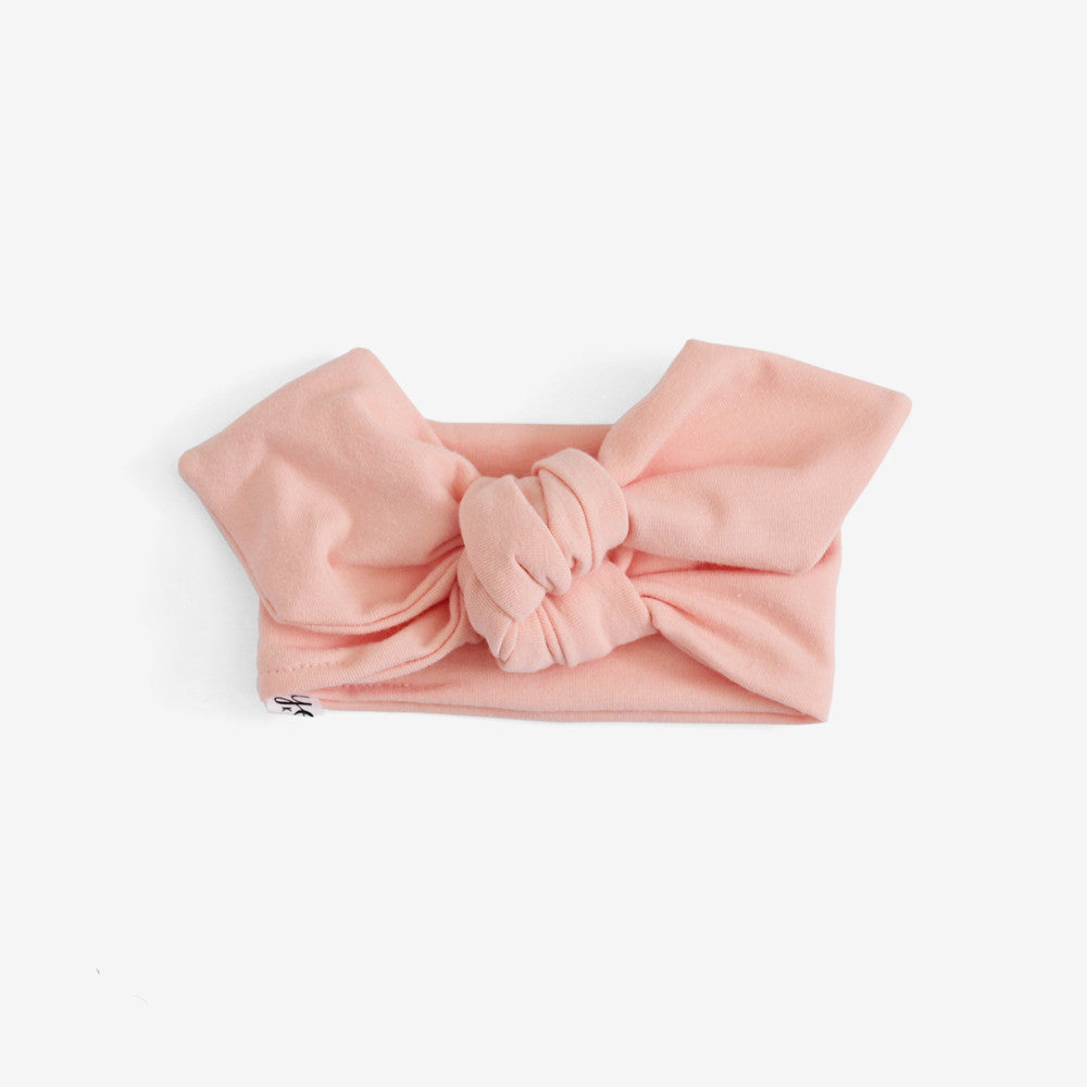 Top Knot Headband - Peach