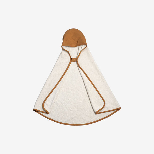 Organic Hooded Baby Towel - Ochre