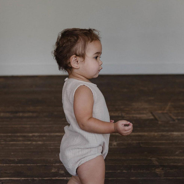 Double Gauze Sunsuit - Fog