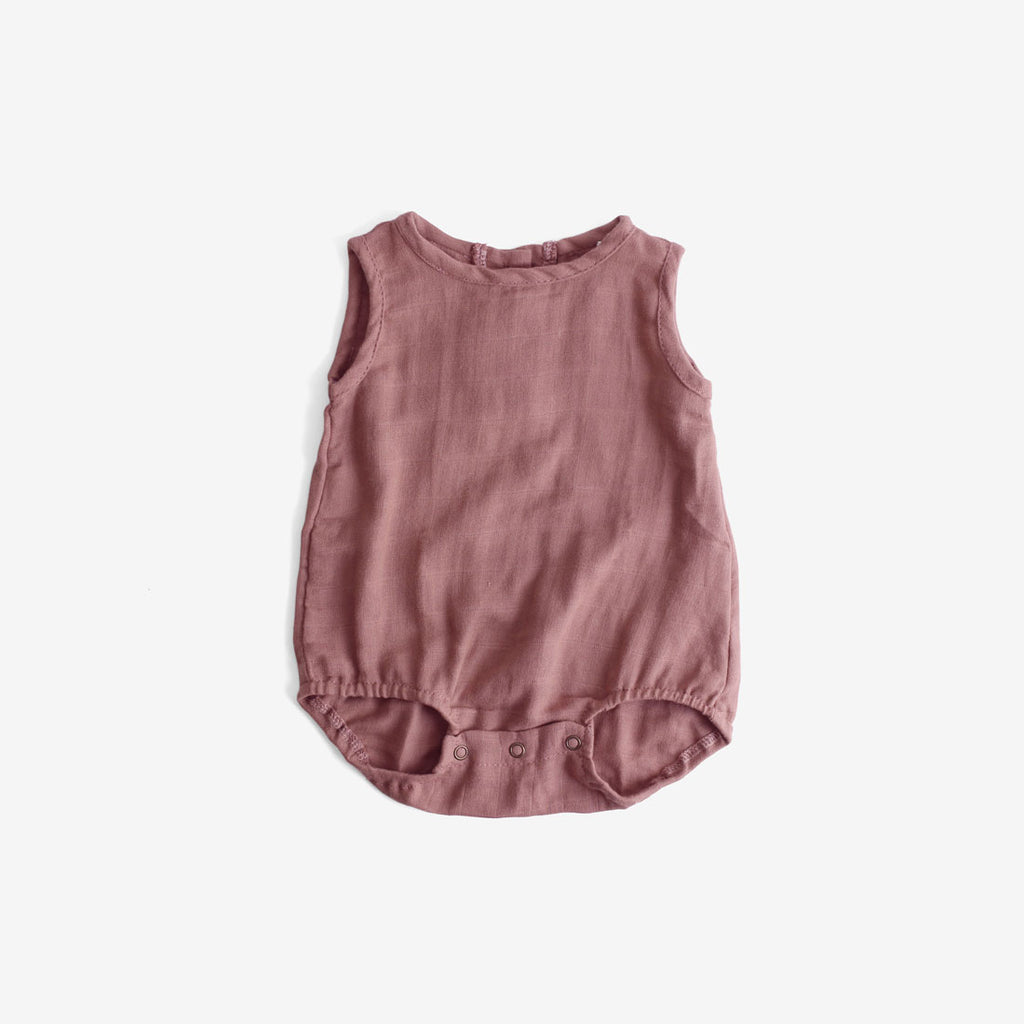 Double Gauze Sunsuit - Mauve