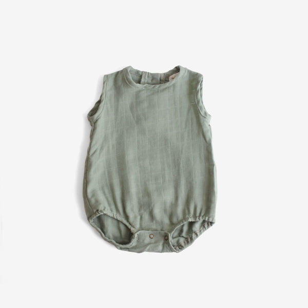 Double Gauze Sunsuit - Moss