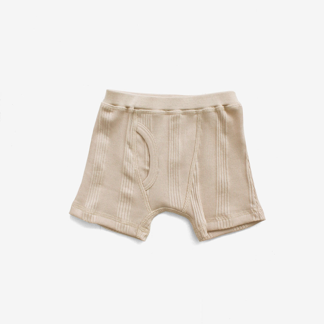 Drop-Needle Rib Boxers - Milk