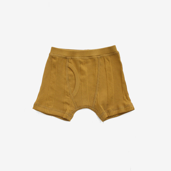 Drop-Needle Rib Boxers - Mustard