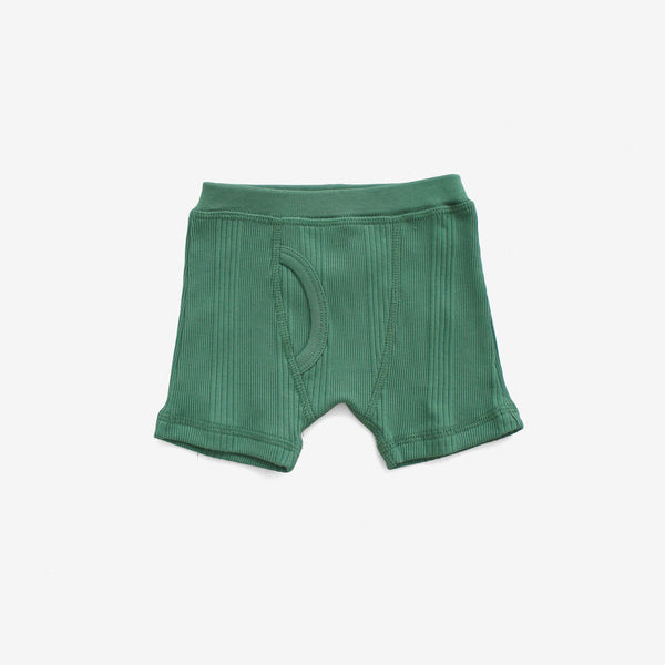Drop-Needle Rib Boxers - Schoolhouse Green