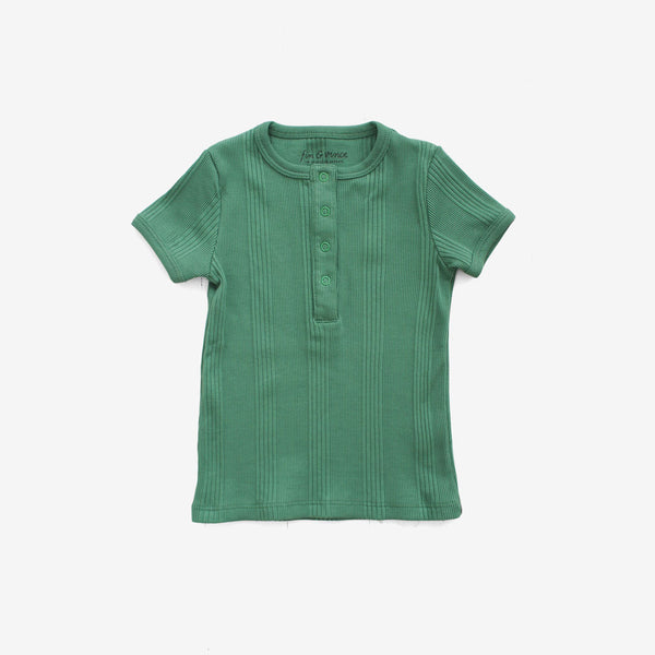Drop-Needle Rib Snap Tee - Schoolhouse Green