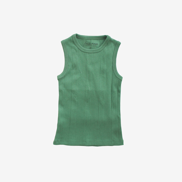 Drop-Needle Rib Tank - Schoolhouse Green