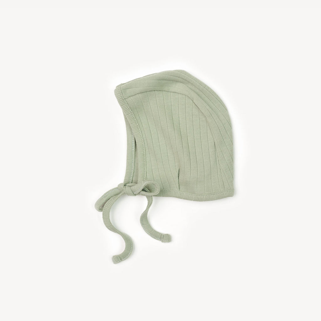 Essential Bonnet - Sage Rib Knit