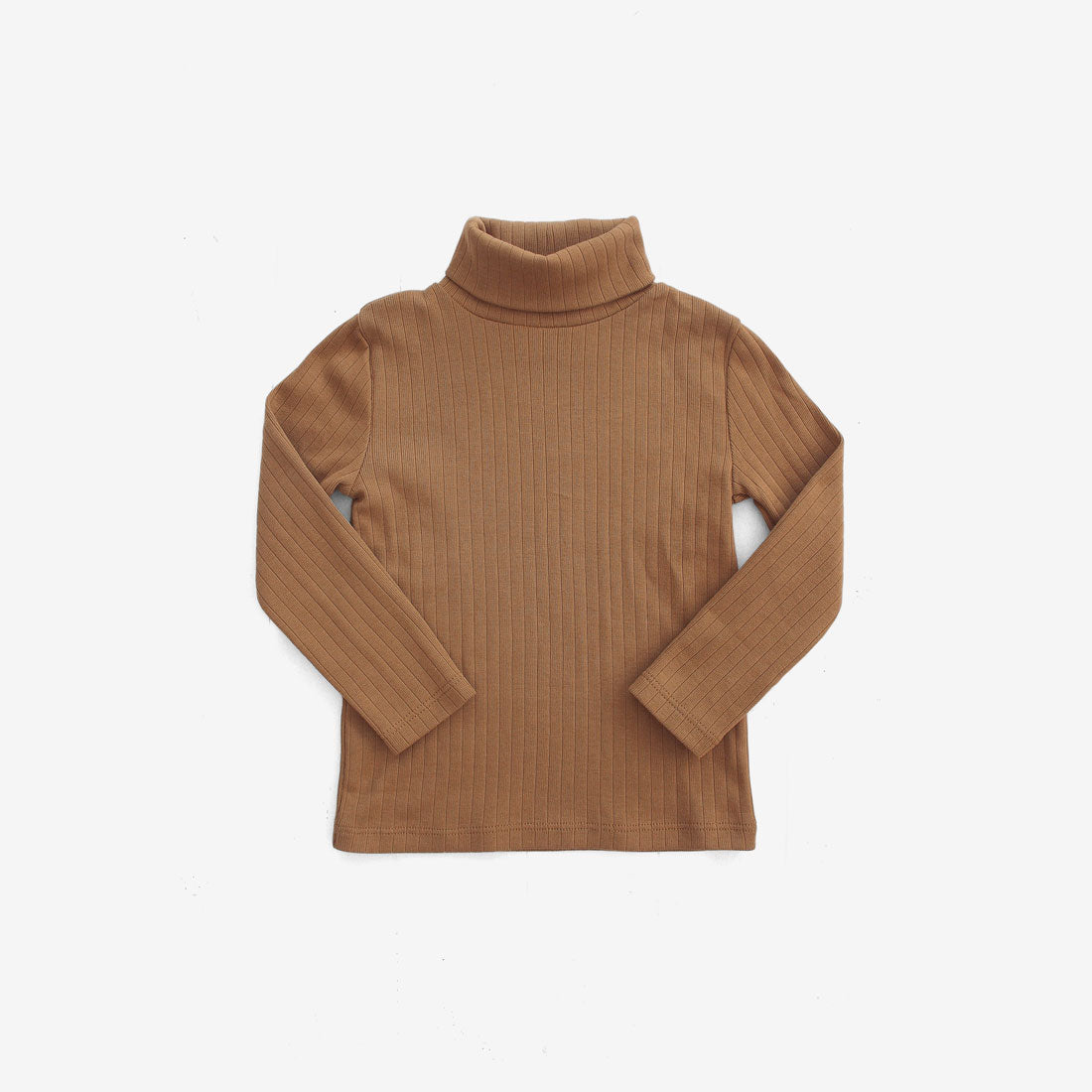Essential Organic Rib Turtleneck - Cinnamon