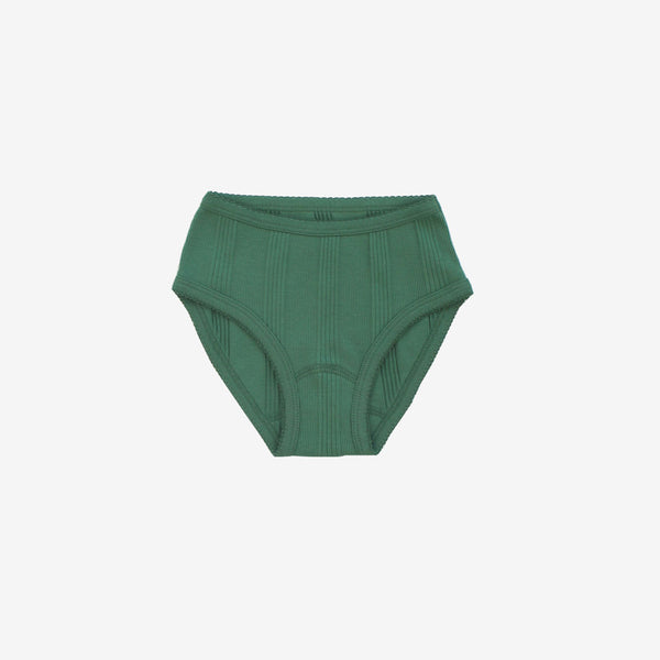 Drop-Needle Rib Panties - Schoolhouse Green