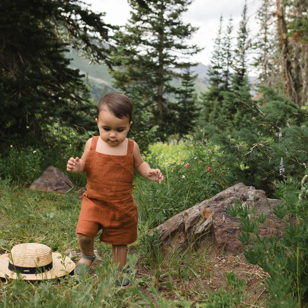 Linen Shortall - Terracotta
