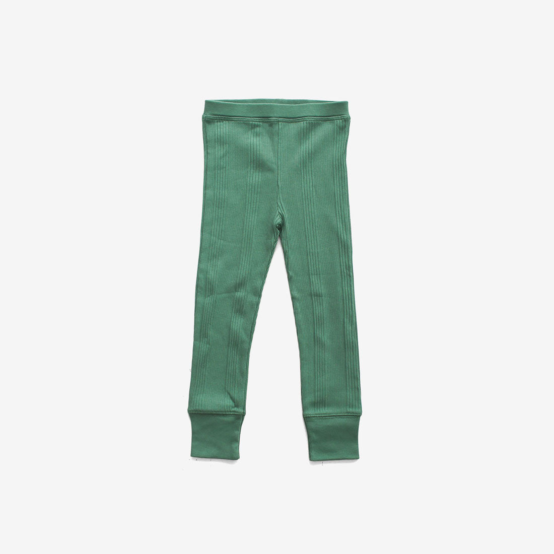 Organic Drop-Needle Rib Pant - Schoolhouse Green