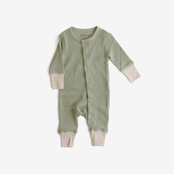 Thermal Long John Romper - Sage