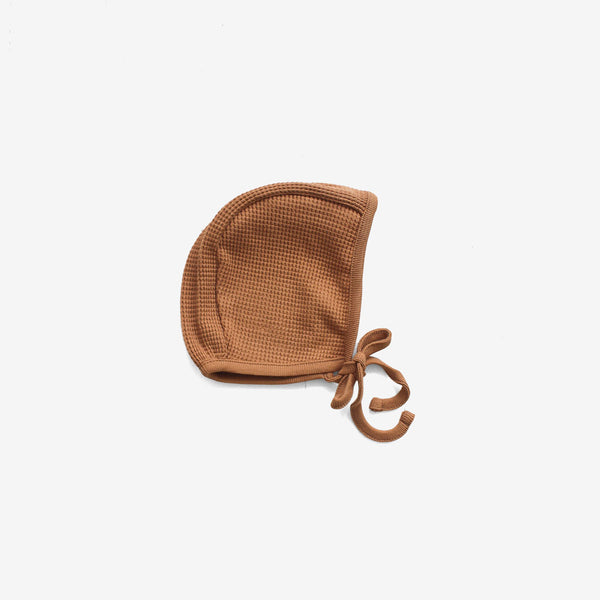 Waffle Thermal Bonnet - Camel