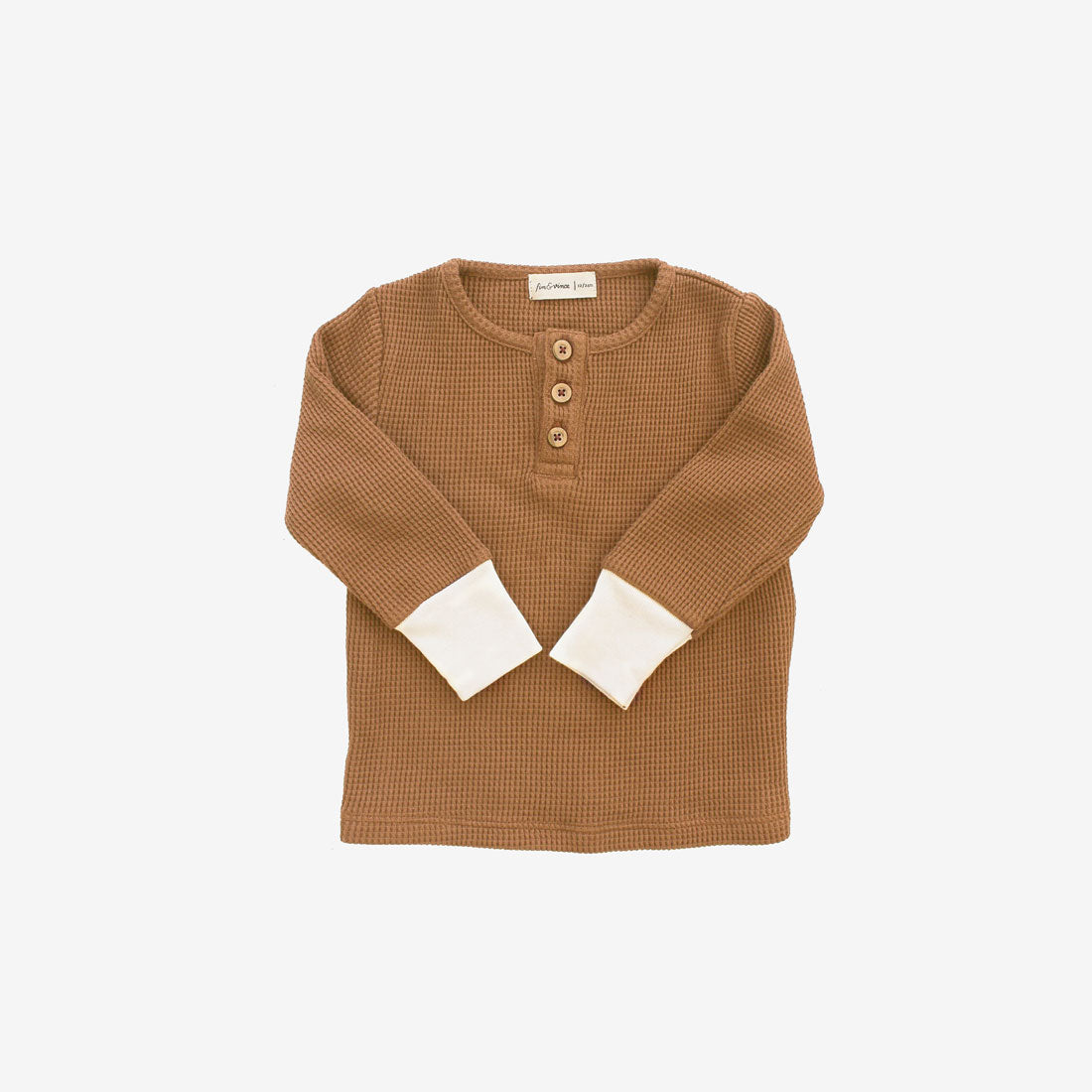 Waffle Thermal Henley - Camel