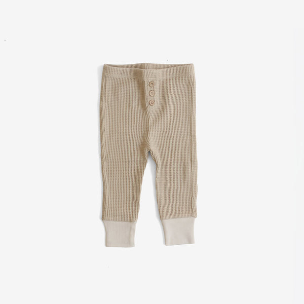 Waffle Thermal Pant - Almond
