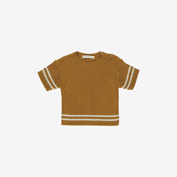 Heritage Organic Knit Top - Toffee
