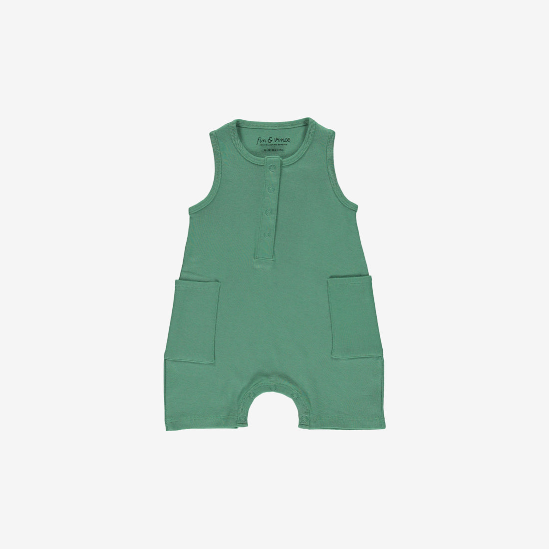 Organic Jersey Short Jumpsuit - Schoolhouse Green