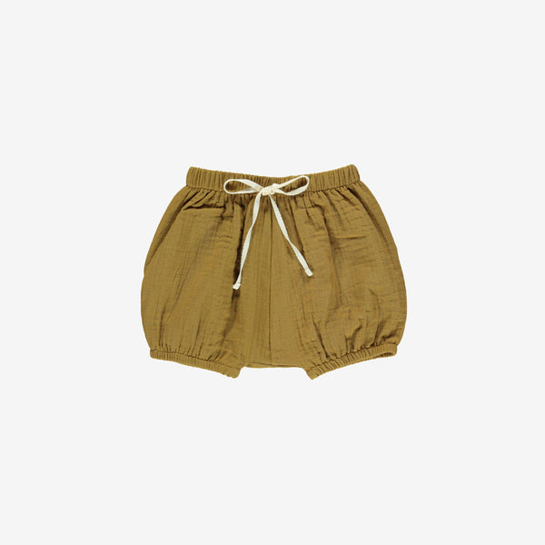 Organic Double Gauze Bubble Short - Toffee