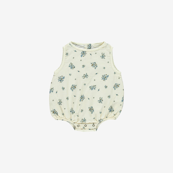 Organic Double Gauze Sunsuit - Bouquet