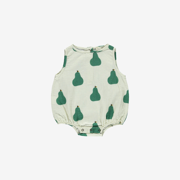 Organic Double Gauze Sunsuit - Pears