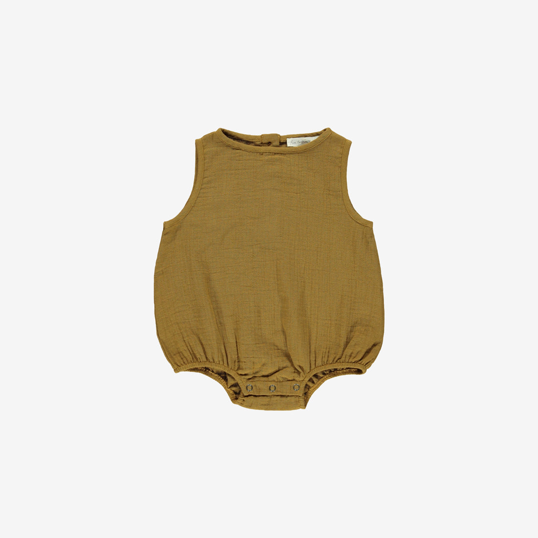 Organic Double Gauze Sunsuit - Toffee
