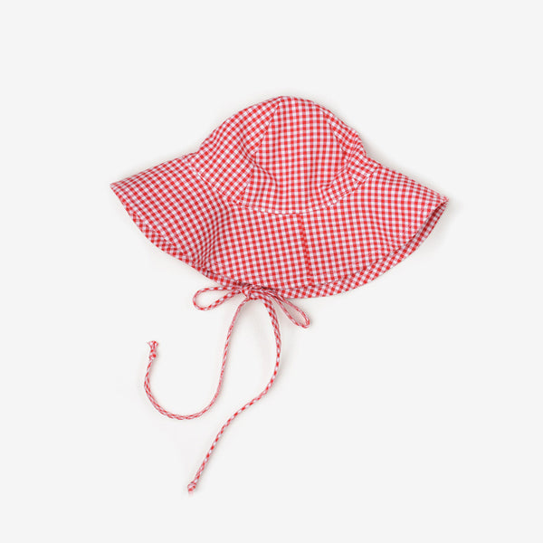 Red Gingham Sunhat