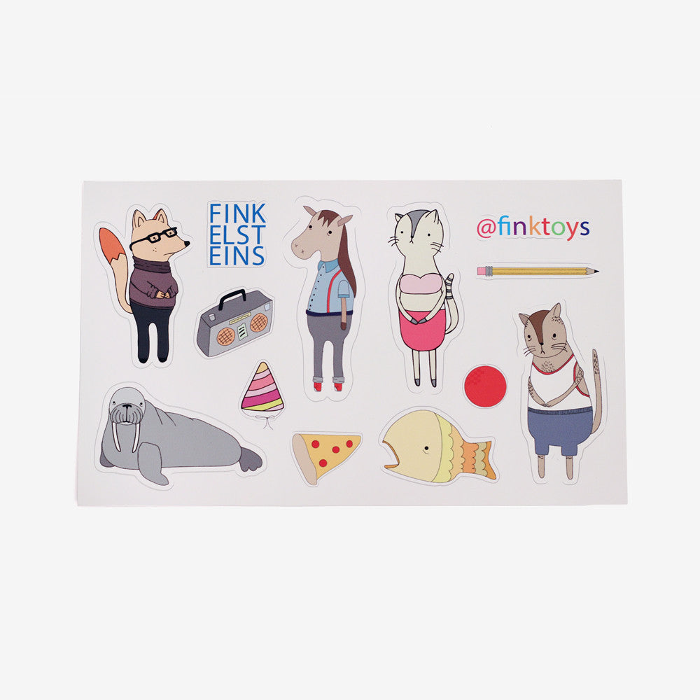 Clingy Creatures Sticker Sheet B