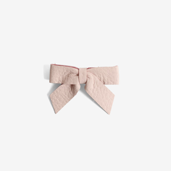 Anne Leather Bow Clip - Magnolia
