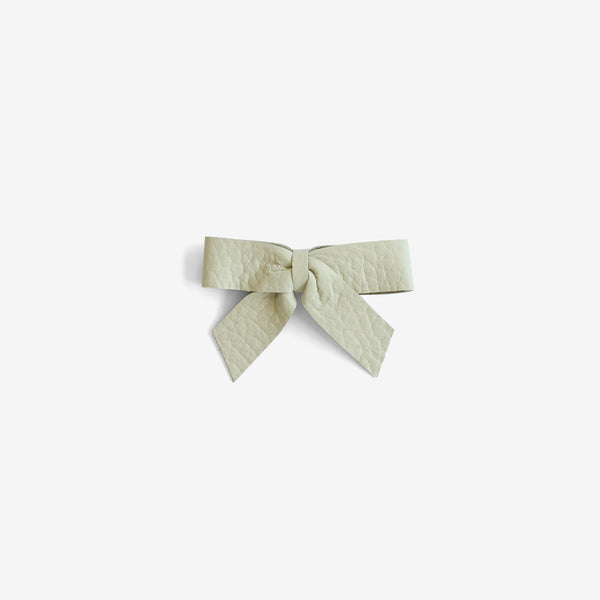 Anne Leather Bow Clip - Spray