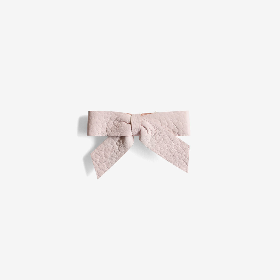 Anne Leather Bow Clip - Gloss