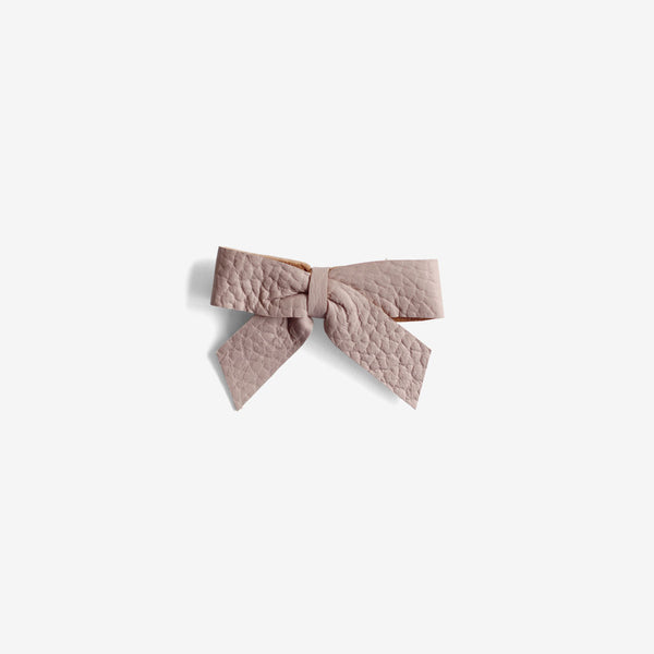 Anne Leather Bow Clip - Meadow