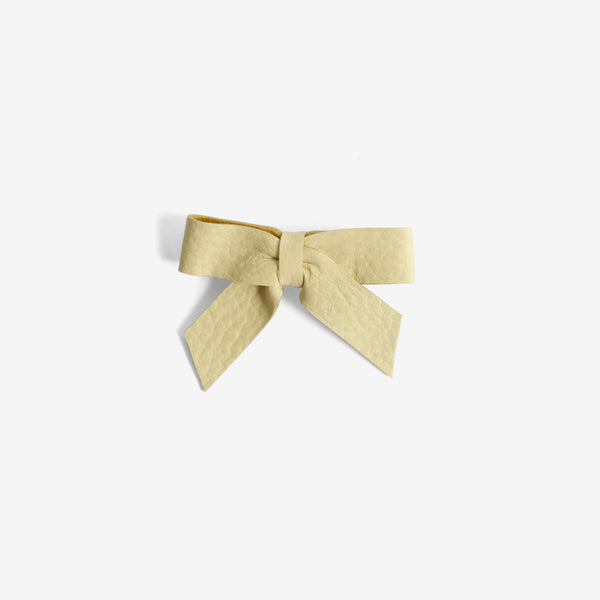 Anne Leather Bow Clip - Nectar