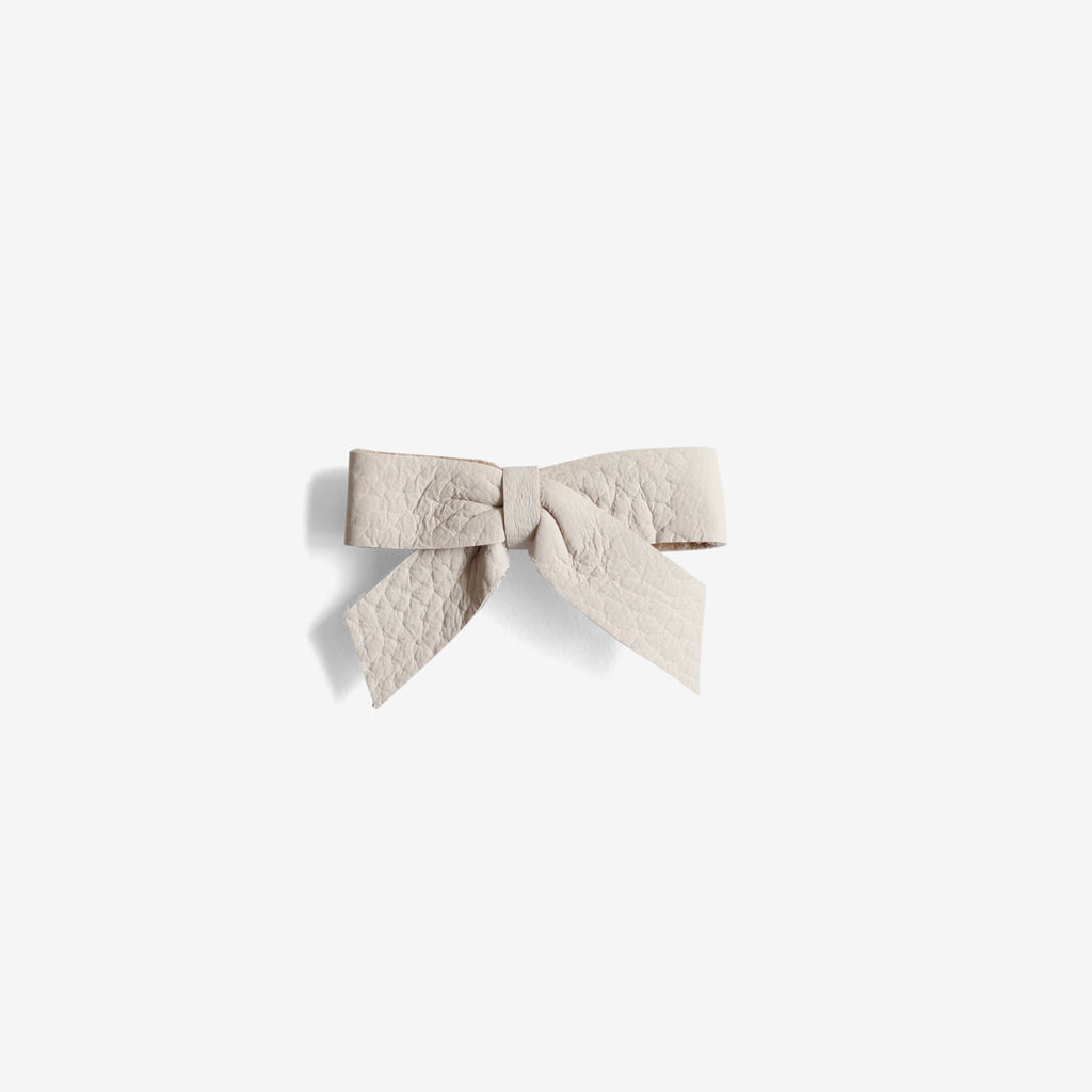 Anne Leather Bow Headband - Oat