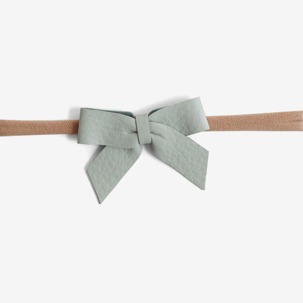 Anne Leather Bow Headband - Cornflower
