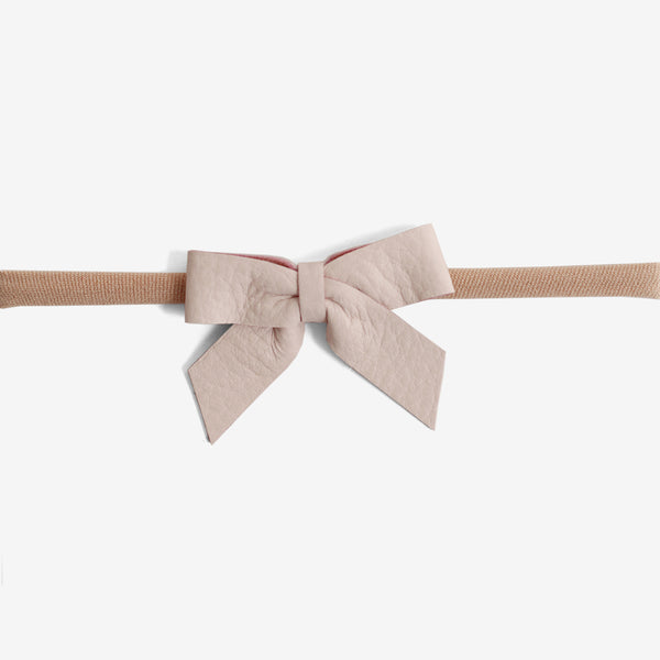 Anne Leather Bow Headband - Magnolia