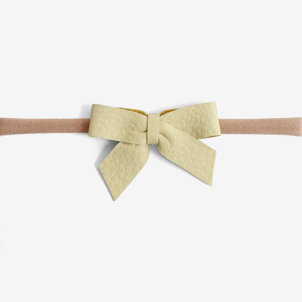 Anne Leather Bow Headband - Nectar