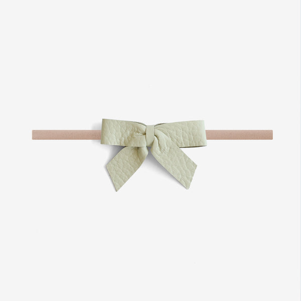 Anne Leather Bow Headband - Spray