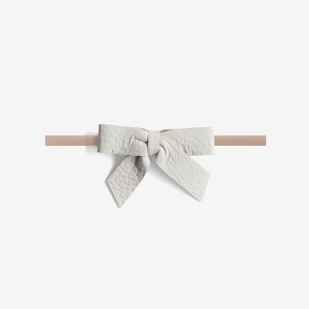 Anne Leather Bow Headband - Chill